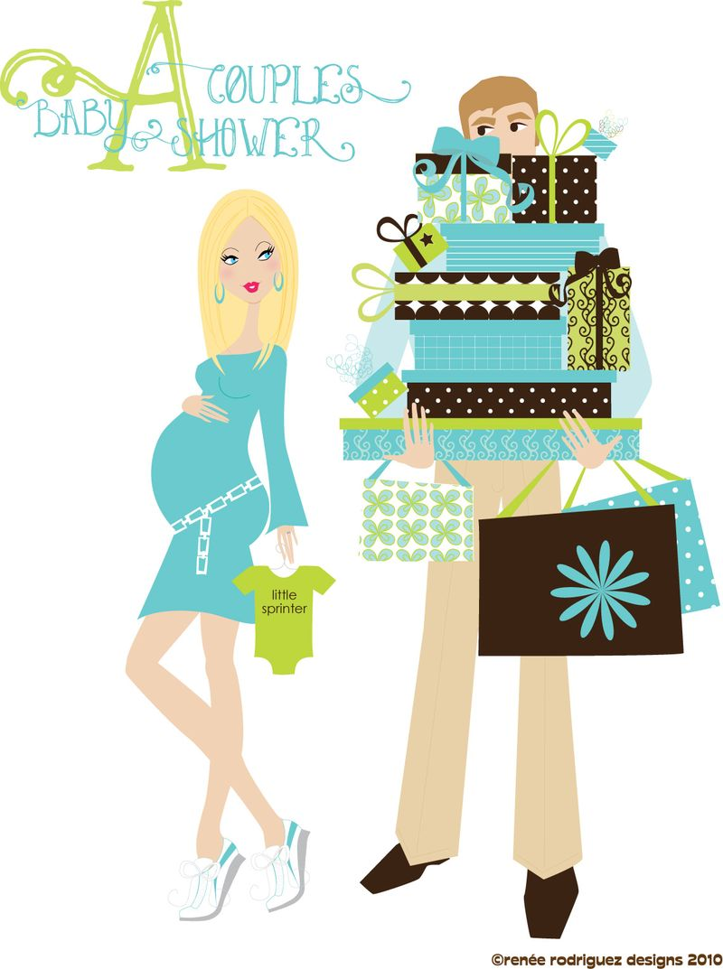 artwork for a couples baby shower pt 1 renee rodriguez designs