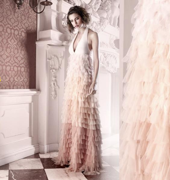 Blush-pink-wedding-dress-ruffles