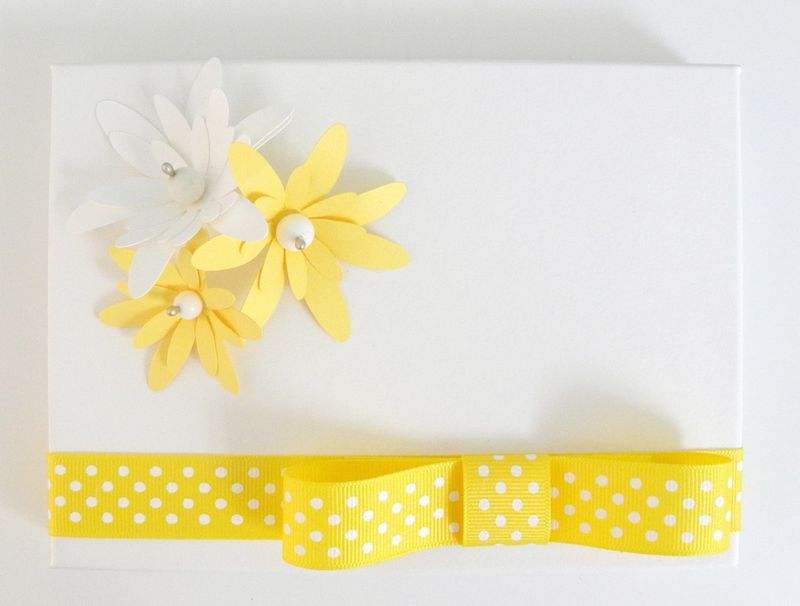Paulettes blog black and white themes and ideas adelaide 39s the materials are beautiful a white paper box yellow and white handmade junglespirit Image collections